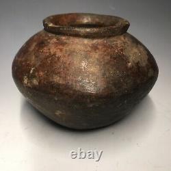 Pre-Historic Native American Mogollon / Salado Ware Pottery Round Bottom Jar