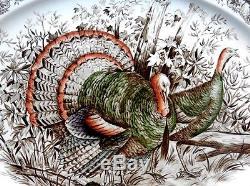 Pre Owned Wild Turkeys Native American Serving Platter 20 X 16 Johnson Bros
