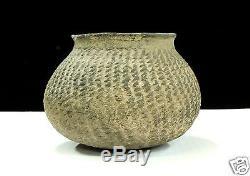 Pre-historic Anasazi Corrugated Olla Pottery Pueblo