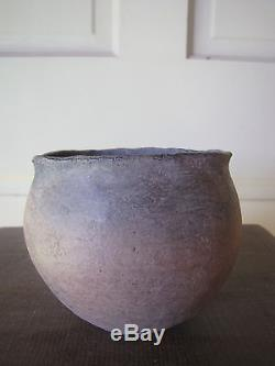 Prehistoric Pottery- Two Grey Hills New Mexico, Round Pot Native American Indian