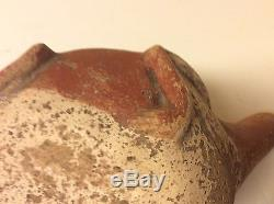 Quapaw frog pot native american indian 6 long mississippian pottery