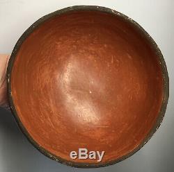 RARE 20th C. Native American Zia Seferina Bell Pottery Bowl Southwestern Pueblo