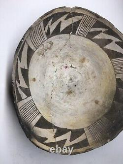 RARE Ancient Anasazi Chaco Native American Warp Form Pouring Bowl Pottery