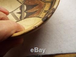 RARE Antique 1800s Native American PAINTED BOWL FROM THE HOPI VILLAGE