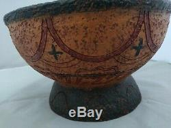 RARE Antique Native American Indian Pottery Bowl