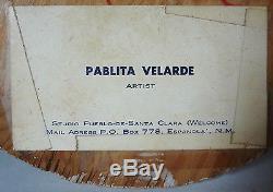 RARE HISTORIC FIND- NATIVE AMERICAN POTTERY GROUP by PABLITA VELARDE-Santa Clara