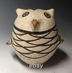 RARE Maria Z. Chino Owl Acoma Native American Pottery Figurine Pueblo Art