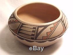 RARE Polychrome Pottery Vase Bowl Carlos Carmelita Dunlap 1976 San Ildefonso
