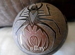 Rare Santa Clara Sgraffito Pottery With Spider, Signed By Haungooah