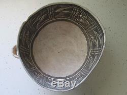 RARE prehistoric Arizona Anasazi Keyenta negative B/W bowl-MINT