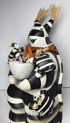 Randy Chitto Choctaw 20th C. Native American Koshare Pottery Turtle Story-Teller
