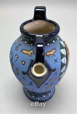 Rare ART NOUVEAU AMPHORA Art Pottery Pitcher of Native American Indian c. 1920