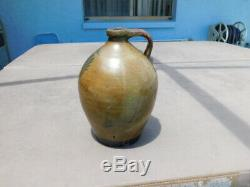 Rare Antique Western Native American Primitive Stoneware Advertisemt Whiskey Jug