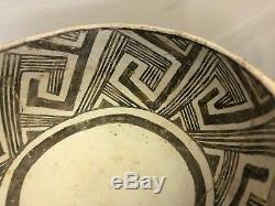 Rare Arizona Native American Indian Hohokam Anasazi Painted Pottery Bowl Mimbres
