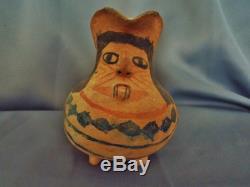 Rare Native American MOJAVE POTTERY EFFIGY PITCHER circa 1920's