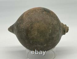 Rare Prehistoric Native American Mississippian Conch Shell Effigy Pottery Bowl