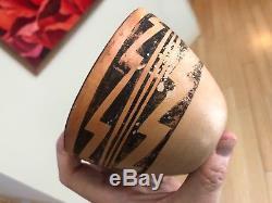Rare Vintage Native American Tribal Pueblo Pottery Bowl Jar