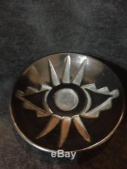 Rose Gonzales carved plate Santa Clara pueblo