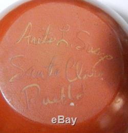 SANTA CLARA Pueblo Native American Redware Pottery 5 Bowl, ANITA SUAZO