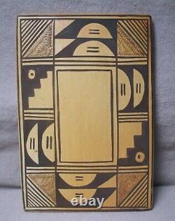 Sadie Adams (aka Flower Woman) Native American Hopi Pottery Tile
