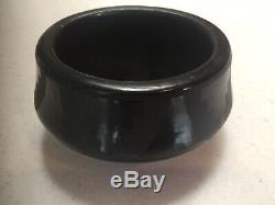 San Idefonso Pueblo Indian Pottery by Blue Corn 2 x 5 black on black Pot