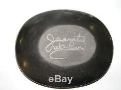 San Ildefonso Pueblo Indian Black Pottery signed juanita Wo-Peen