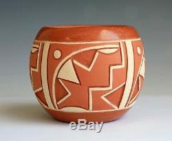 San Juan Pueblo Native American Pottery Bowl Norman De Herrera Ohkay Owingeh