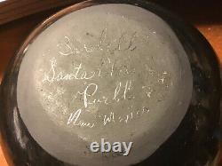Santa Clara Native American 6 Pottery Vase by Birdell Vine Flower New Mexico