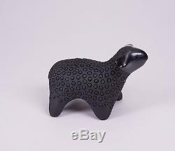 Santa Clara Native American Pottery Sheep Figure by Joseph Joe Eunice Naranjo