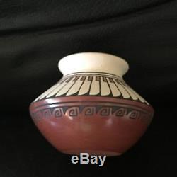 Santa Clara Polychrome Vase by Minnie Vigil