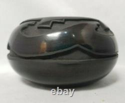 Santa Clara Pottery CAROL VELARDE-BREWER 4 1/2 X 2 1/2 Avanyu Pot