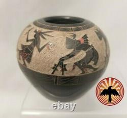 Santa Clara Pottery GOLDENROD (Gloria Garcia) 2 1/2 x 2 SGRAFFITO BOWL