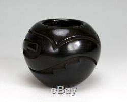 Santa Clara Pueblo Indian Pottery Avanyu Bowl #3 Vickie Martinez Tafoya