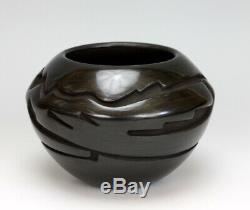 Santa Clara Pueblo Indian Pottery Avanyu Jar #3 Vickie Martinez Tafoya