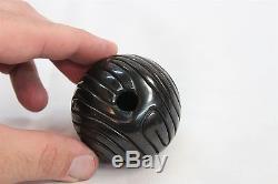 Santa Clara Pueblo Linda Tafoya Black Spiral Line Carved Design Pottery Vase