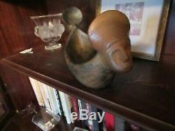 Sara Ayers Catawba Sc Pottery Double Headed Effigy Bowl 1981