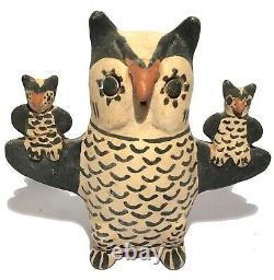 Serafina Ortiz Cochiti New Mexico Pueblo Pottery Storyteller Owl Native American