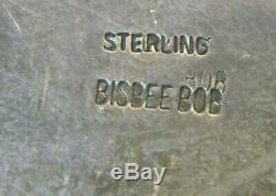 Signed Bisbee Bob & Sterling Unique Pottery Shard 3 1/4 Heavy Belt Buckle
