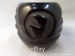 Signed Legoria Tafoya Santa Clara Pueblo Blackware Pottery Pot 3