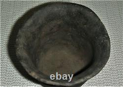 Small Solid Punctate Utility Jar Ancient Native American Caddo Indian Pottery
