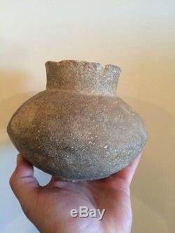 Solid Mississippian Indian Pottery Water Bottle Mississippi County, Arkansas COA