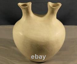Southwest Native American Acoma Pueblo Hand Coiled Wedding Vase By Lolita Concho