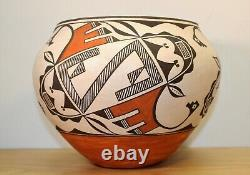 Southwest Native American Acoma Pueblo Polychrome Olla signed By Grace Chino