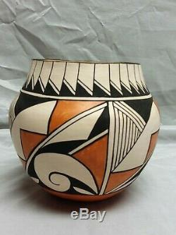 Southwest Native American Acoma Pueblo Pottery Polychrome Olla