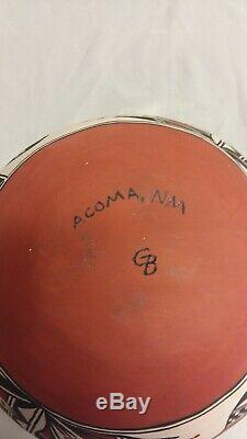 Southwest Native American Acoma Pueblo Pottery Polychrome Olla Parrot Motif