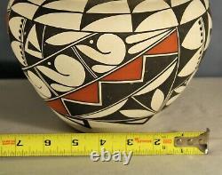 Southwest Native American Acoma Pueblo Pottery polychrome Olla by B. L. Vallo