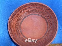 St. John's Polychrome Bowl, 10 in diameter x 5 1/4 in height. ABA-15296