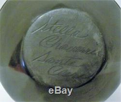 Stella Chavarria Native American Black On Black Pottery