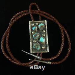 Sterling Silver. 925 turquoise bolo tie Native American vintage Old Pawn