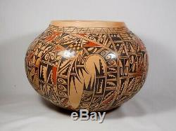 Stunning, Quite Large Hopi Indian Pottery Jar By Antoinette Silas Honie
